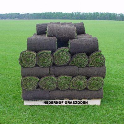 Graszoden pallet met tekst Nederhof