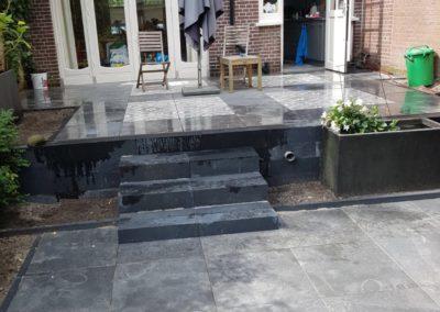 Besloten achtertuin in de wijk Bezuidenhout (Den Haag)